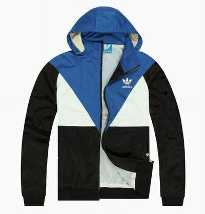Veste Adidas Original Noir Argent Thrift Store Adidas Trench Veste